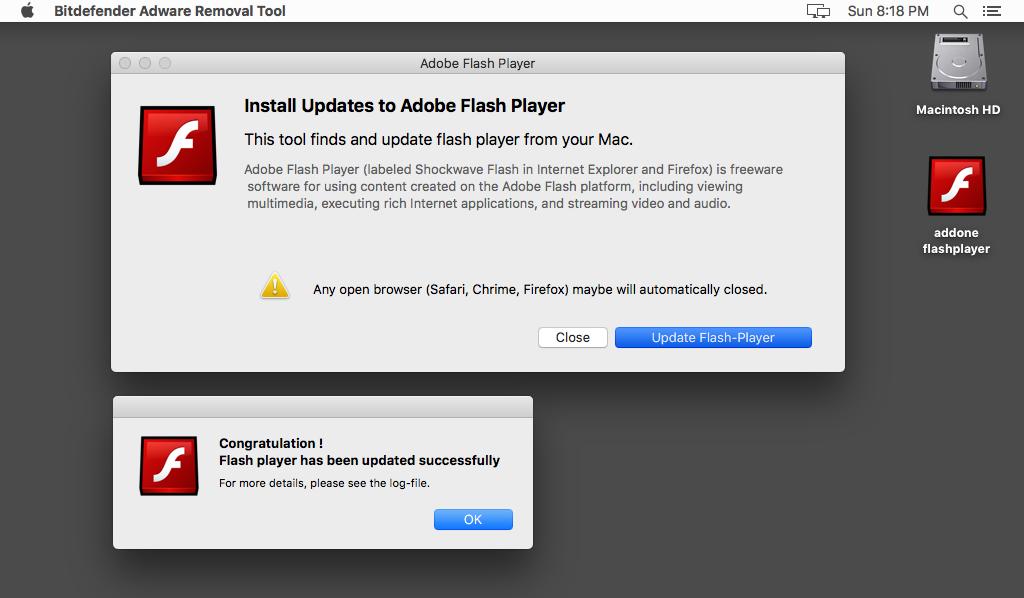 Denne skadevaren forkler seg som en oppdatering til Adobe Flash.